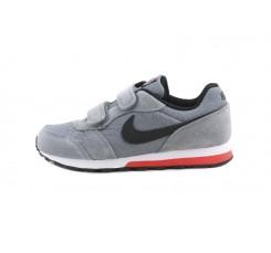 Deportiva gris/negro con símbolo blanco con velcro Nike Runner