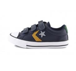 Zapatilla deportiva de piel azul/amarillo con velcro Converse StarPlayer