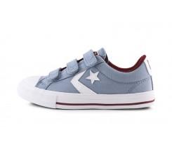 Zapatilla deportiva de lona celeste con velcro Converse Starplay