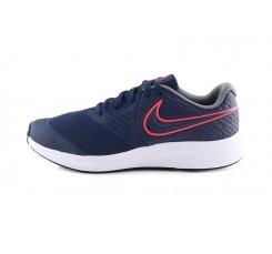Deportiva de cordón ligera azul/rojo Nike Star runner