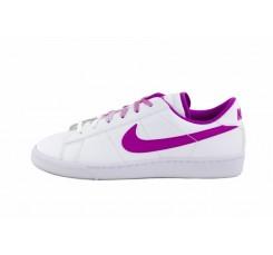Deportiva piel blanca con símbolo morado Nike Tennis