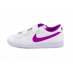 Deportiva piel blanca símbolo morado con velcro Nike Tennis