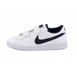 Deportiva piel blanca símbolo azul con velcro Nike Tennis
