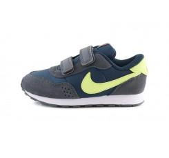 Zapatilla deportiva con velcro azul y lima Nike Valiantvel