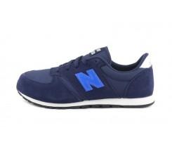 Deportiva ante azul y N azulón con cordón YC420 New Balance