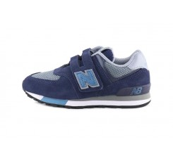 Deportiva YV574FND azul y gris con velcro New Balance