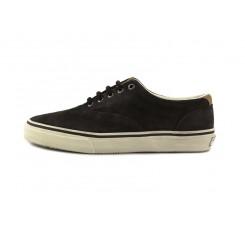 Zapato ante marrón con suela blanca Sperry