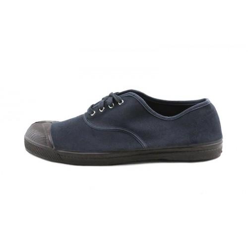 Zapatilla terciopelo gris lavado con cordón Bensimon