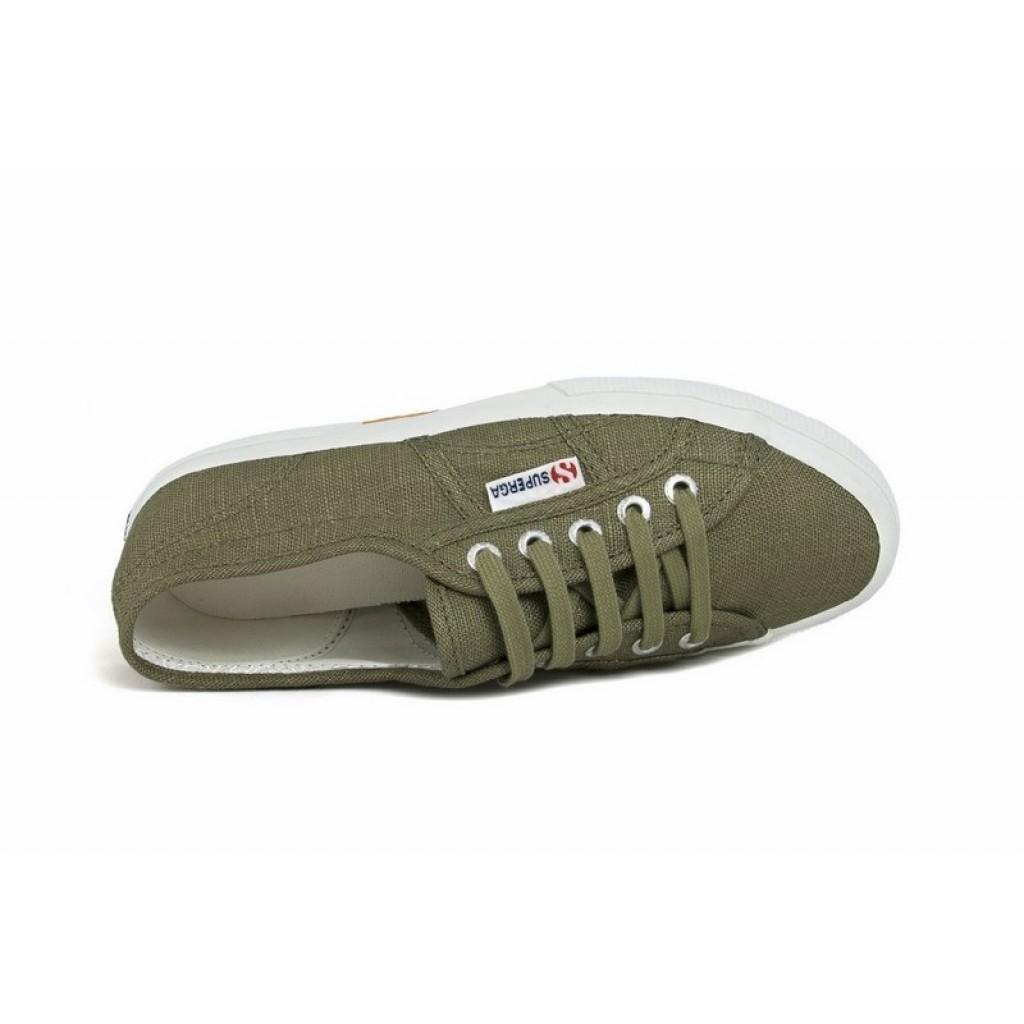 Zapatilla de lino kaki cordón Superga 3006b65998b