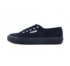Zapato ante azul con cordón Superga