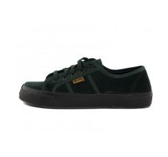 Zapato terciopelo verde con cordón Natural World