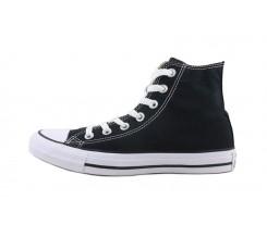 Bota de lona negra con suela blanca Converse