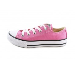 Lona rosa chicle con cordón Converse
