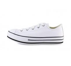 Zapatilla de piel blanca junior con plataforma Converse