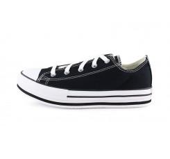 Zapatilla de lona negra junior con plataforma Converse