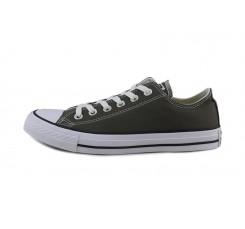 Zapatilla de lona gris oscuro con cordón Converse