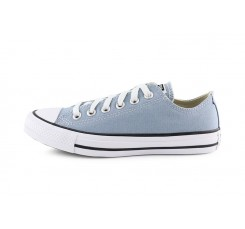 Zapatilla de lona gris azulado con cordón Converse