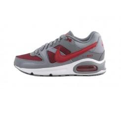 Deportiva gris y rojo con cordón Nike Airmax