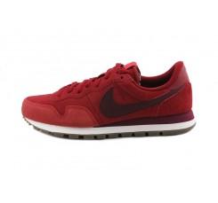 Deportiva ante rojo con simbolo burdeos con cordón Nike Airpegasus