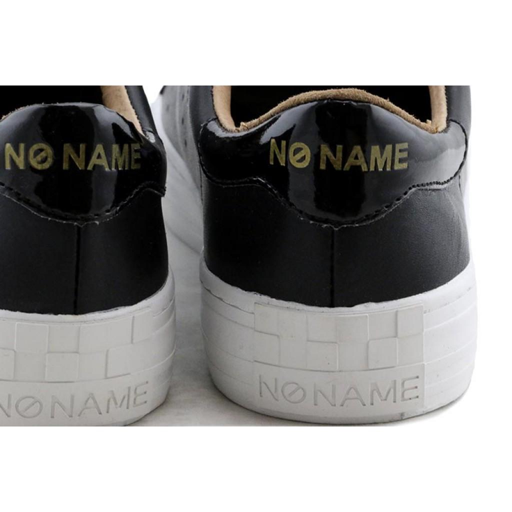 Zapatilla piel negra con cordón No Name