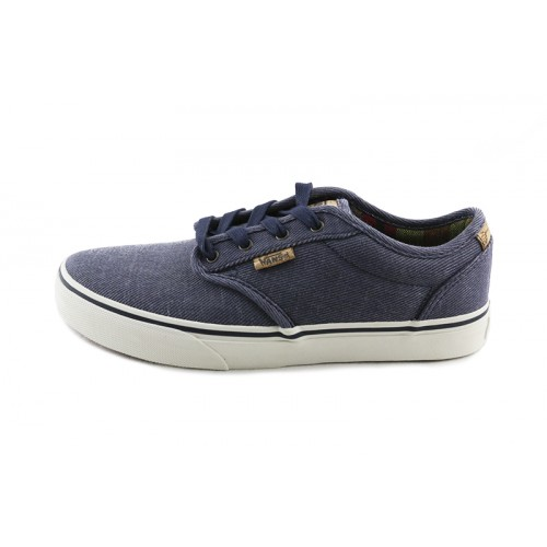 Lona azul jeans con cordón Vans