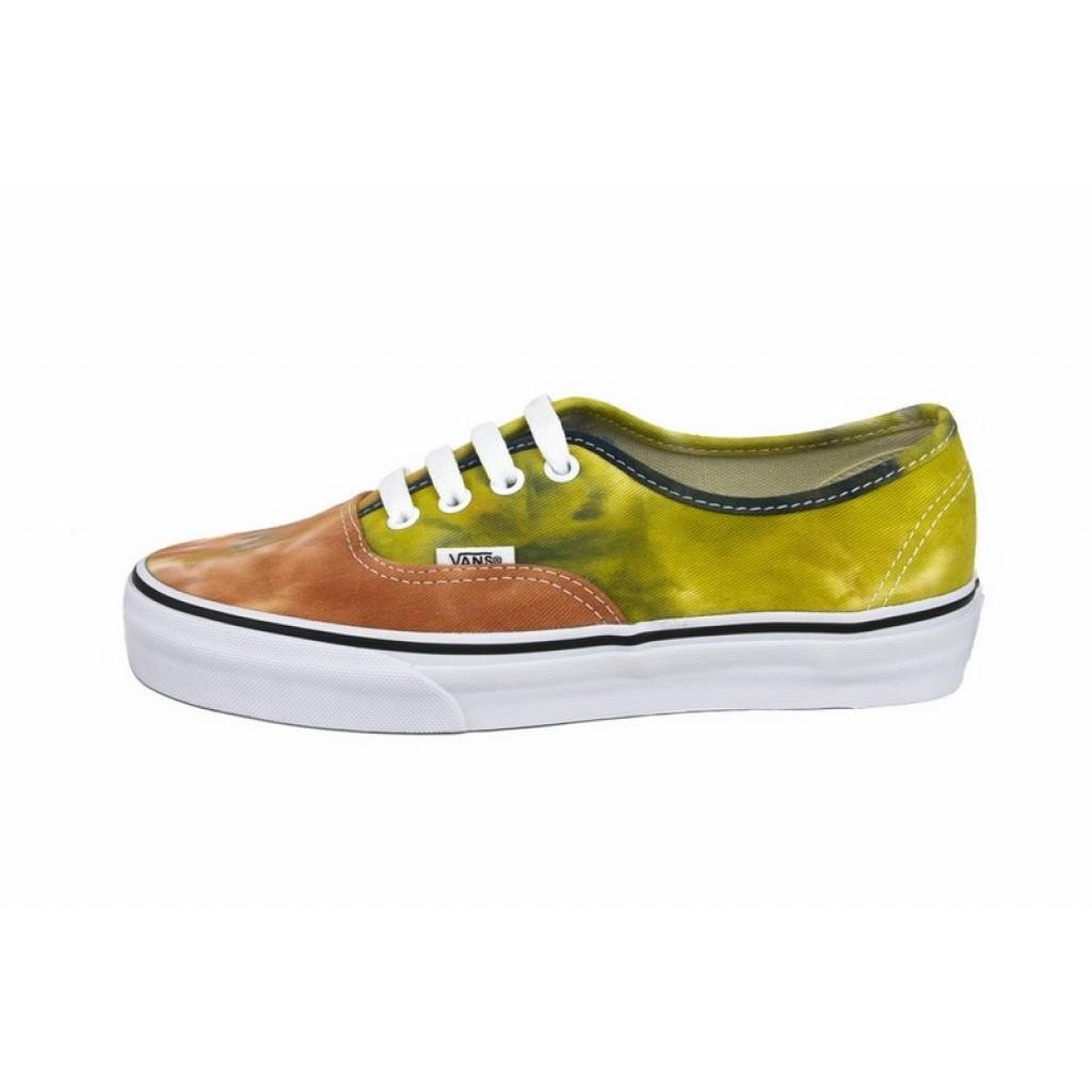 Zapatilla lona desteñida color teja con cordón Vans Authentic da05536ec24ac