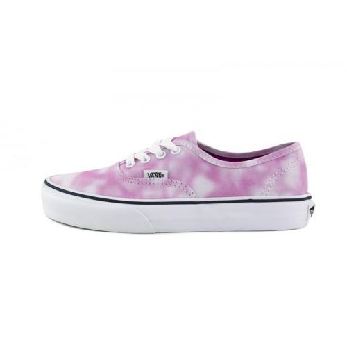 Zapatilla lona desteñida rosa/blanca Vans Authentic