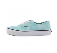 Zapatilla lona destiñada turquesa/blanca Vans Authentic