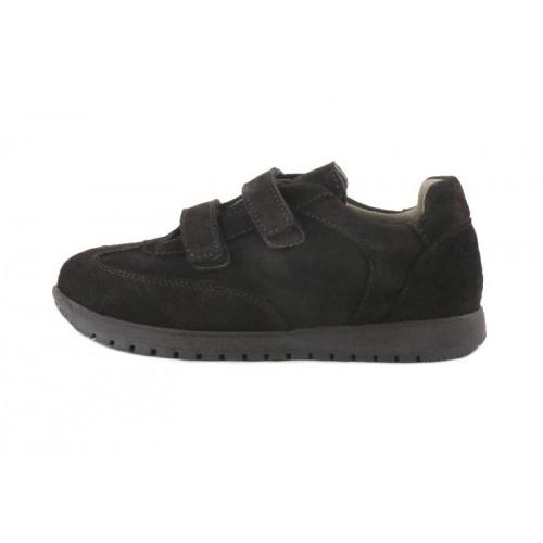 Zapato deportivo ante marrón con velcro Jeromín