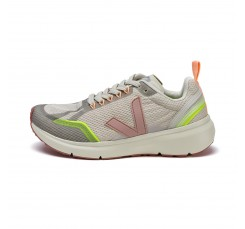 Deportiva running de cordón gris claro con V rosa Veja Condor