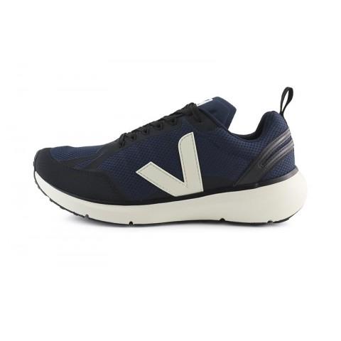 Deportiva running de cordón azul/negro con V blanca Veja Condor