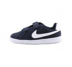 Zapatilla nobuk azul con velcro Nike Court