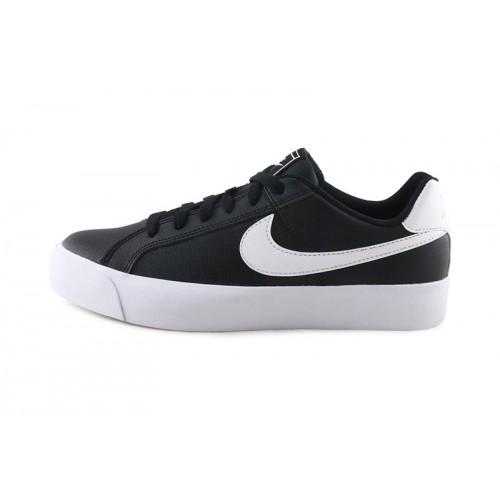 Deportiva de piel negra con cordón Court Royale Nike