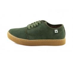Blucher ante verde suela color caramelo con cordón Fuji Walk in Pitas