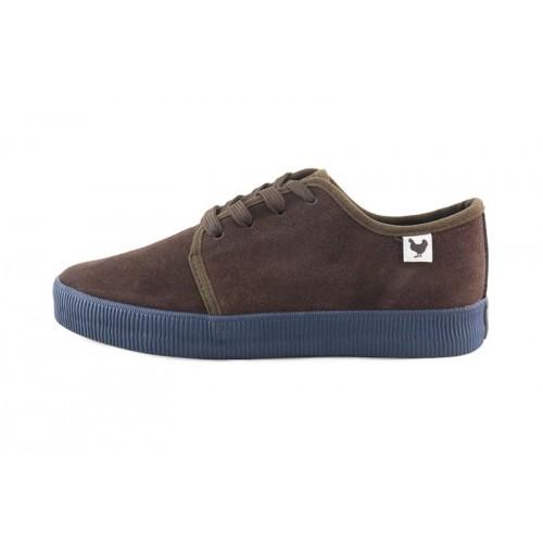Blucher ante marrón suela azul con cordón Fuji Walk in Pitas