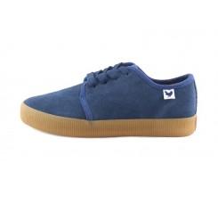 Blucher ante azul suela color caramelo con cordón Fuji Walk in Pitas