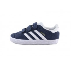 Zapatilla ante azul con velcro modelo Gazelle Adidas