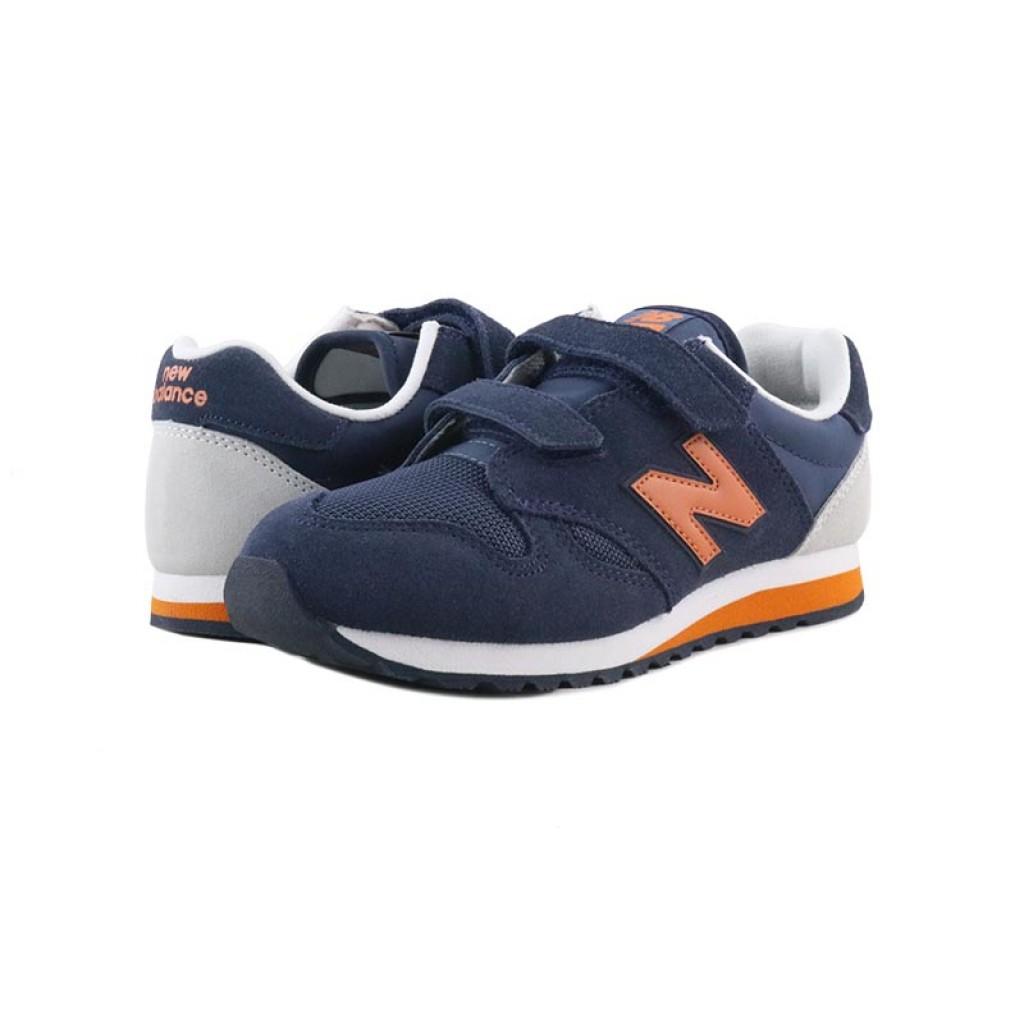 Deportiva ante azul y naranja con dos velcros KA520 New Balance