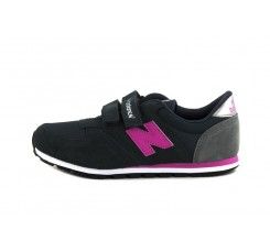 Deportiva KE420 gris oscura y N fucsia con velcro New Balance