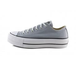 Zapatilla de lona gris claro con plataforma Converse Lift