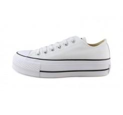 Zapatilla de lona blanca con plataforma Converse