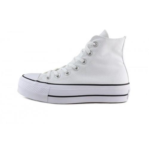 Bota de lona blanca con plataforma Converse