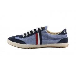 Zapatilla azul con cordón El Ganso
