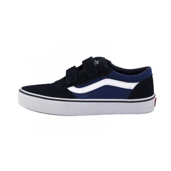 Zapatilla ante azul/azulón con velcro Vans