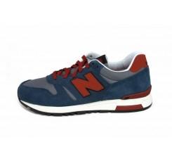 Deportiva roja y azul jean con N roja con cordón ML565SRS New Balance