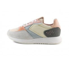 Zapatilla con cordón gris claro/beige/rosa Hoff Queens