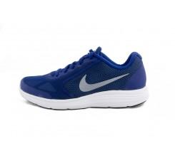 Deportiva azul con símbolo gris Nike Revolutión