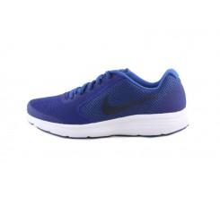 Deportiva total azul con símbolo gris Nike Revolutión