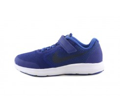 Deportiva azulón velcro y cordón Nike Revolutión