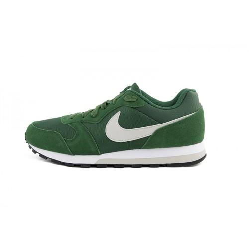 Deportiva verde con símbolo blanco Nike Runner